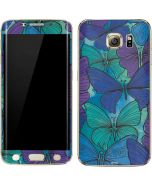 California Watercolor Butterflies Galaxy S6 edge+ Skin