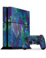 California Watercolor Butterflies PS4 Console and Controller Bundle Skin