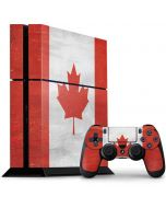 Canada Flag Distressed PS4 Console and Controller Bundle Skin