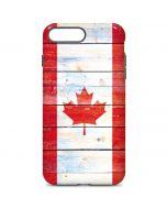Canada Flag Light Wood iPhone 7 Plus Pro Case