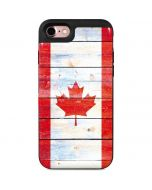 Canada Flag Light Wood iPhone 7 Wallet Case
