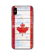 Canada Flag Light Wood iPhone X Skin