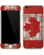 Canadian Flag Dark Wood iPhone 6/6s Skin