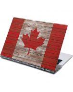 Canadian Flag Dark Wood Yoga 910 2-in-1 14in Touch-Screen Skin