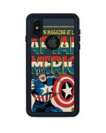 Captain America Big Premier Issue iPhone XS Waterproof Case