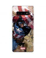 Captain America Fighting Galaxy S10 Plus Skin