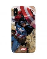 Captain America Fighting iPhone XS Max Lite Case