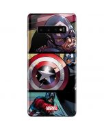 Captain America in Action Galaxy S10 Plus Skin