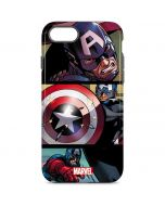 Captain America in Action iPhone 8 Pro Case
