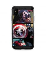 Captain America in Action iPhone XS Max Cargo Case
