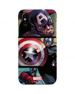 Captain America in Action iPhone XS Max Lite Case