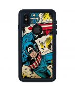 Captain America Rooftop Explosion iPhone XS Waterproof Case