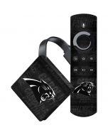 Carolina Panthers Black & White Amazon Fire TV Skin