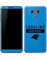 Carolina Panthers Blue Performance Series LG G6 Skin