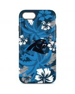 Carolina Panthers Tropical Print iPhone 8 Pro Case