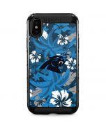 Carolina Panthers Tropical Print iPhone XS Max Cargo Case