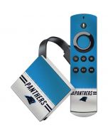 Carolina Panthers White Striped Amazon Fire TV Skin