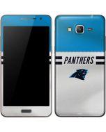 Carolina Panthers White Striped Galaxy Grand Prime Skin