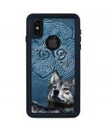 Celtic Wolf iPhone XS Waterproof Case