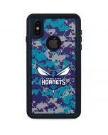 Charlotte Hornets Digi Camo iPhone XS Waterproof Case