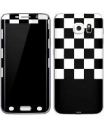 Checkerboard Split Galaxy S6 Edge Skin