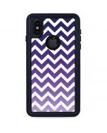 Chevron Purple Ombre iPhone X Waterproof Case