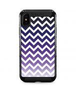 Chevron Purple Ombre iPhone XS Max Cargo Case