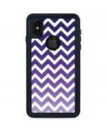Chevron Purple Ombre iPhone XS Waterproof Case