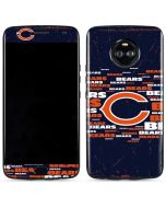 Chicago Bears Blast Moto X4 Skin