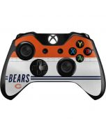 Chicago Bears White Striped Xbox One Controller Skin