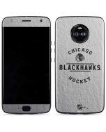 Chicago Blackhawks Black Text Moto X4 Skin