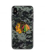 Chicago Blackhawks Camo iPhone XS Skin
