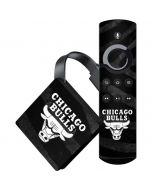 Chicago Bulls Black Animal Print Amazon Fire TV Skin