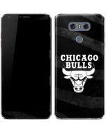 Chicago Bulls Black Animal Print LG G6 Skin