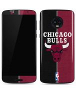 Chicago Bulls Canvas Moto G6 Skin
