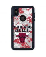 Chicago Bulls Digi Camo iPhone X Waterproof Case