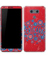 Chicago Cubs - Red Primary Logo Blast LG G6 Skin