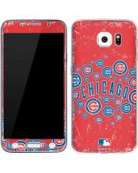 Chicago Cubs - Red Primary Logo Blast Galaxy S6 Skin