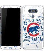 Chicago Cubs - White Cap Logo Blast LG G6 Skin