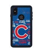 Chicago Cubs -Cap Logo Blast iPhone X Waterproof Case