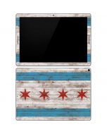 Chicago Flag Dark Wood Google Pixel Slate Skin