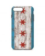 Chicago Flag Dark Wood iPhone 7 Plus Pro Case