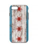 Chicago Flag Dark Wood iPhone 8 Pro Case