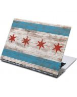 Chicago Flag Dark Wood Yoga 910 2-in-1 14in Touch-Screen Skin