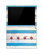 Chicago Flag Light Wood Google Pixel Slate Skin