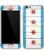 Chicago Flag Light Wood iPhone 6/6s Skin