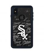 Chicago White Sox - Cap Logo Blast iPhone XS Waterproof Case