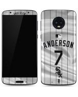 Chicago White Sox Anderson #7 Moto G6 Skin