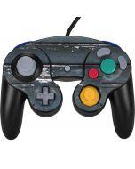 Chipped Blue Wood Nintendo GameCube Controller Skin