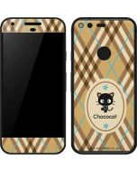 Chococat Brown and Blue Plaid Google Pixel Skin